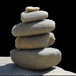 kameny poskládané na sebe