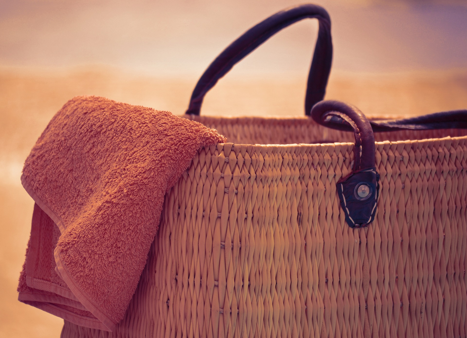 plážová taška, kabelka z trávy